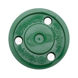 Green Buiscuit puck for roller hockey
