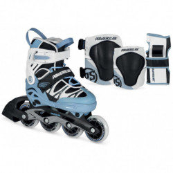Powerslide Phuzion Orbit Combo Boys inline skates and pads - Junior