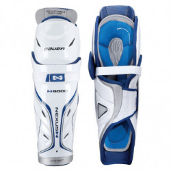 Bauer Nexus N9000 hockey shin guards - Junior
