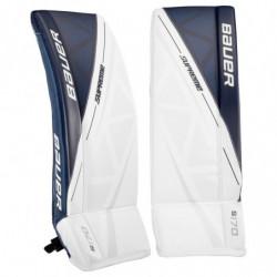 Bauer S170 hockey goalie leg pads - Junior