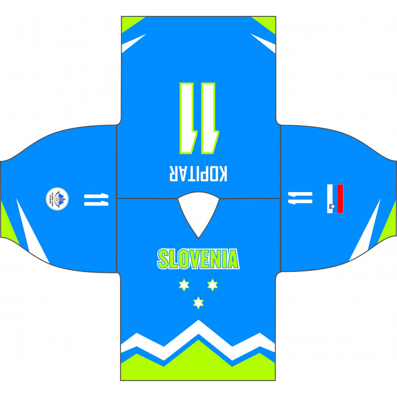 Fan jersey of Slovenian Olympic Hockey Team premium