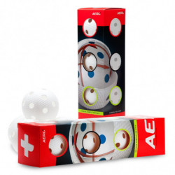 Aero plus floorball match ball 4-pack - white