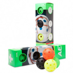 Aero plus floorball match ball 4-pack - colors